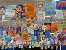 Art class at Christleton High School