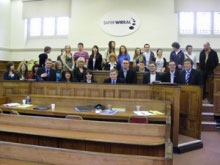 Law class at Christleton High School