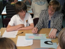 Maths class at Christleton High School