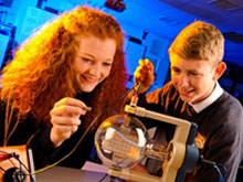 Science class at Christleton High School