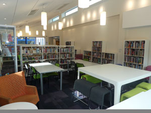 iResearch Centre interior at Christleton High School