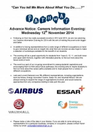 Careers Information Evening 12th November