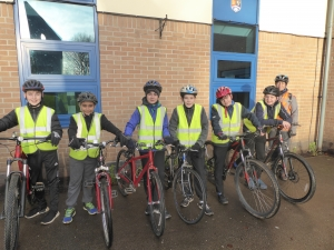 Christleton High School Students Take to the High Roads (Safely!) - Bikeability Level 3 course 25 January 2018