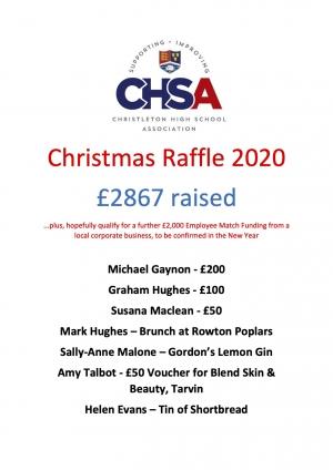 CHSA Christmas Raffle Winners