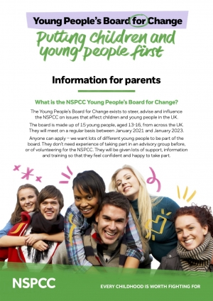 NSPCC Young People's Board For Change - Information for Parents