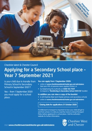 Secondary Online Applications 2021