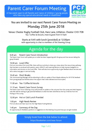Special Educational Needs Parent Carer Forum