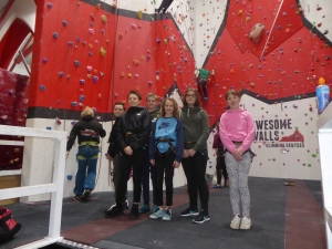 Students visited Awesome Walls in Liverpool Awesome Walls Climbing Centre in Liverpool!