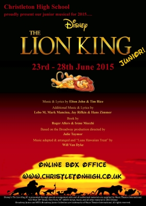 The Lion King Junior 23rd-28th June