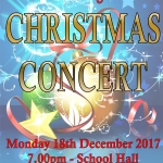 Christmas Concert Monday 18 December 2017 starts at 7pm