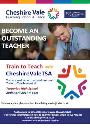 Train to Teach with Cheshire Vale TSA